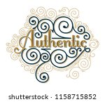 authentic decorative lettering... | Shutterstock .eps vector #1158715852