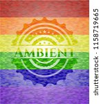 ambient on mosaic background... | Shutterstock .eps vector #1158719665