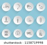agriculture web icons on light... | Shutterstock .eps vector #1158719998