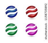 3d modern globe circle marble... | Shutterstock .eps vector #1158735892