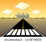 vector road to the city | Shutterstock .eps vector #115874005