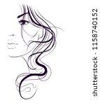 vector  stylish  original hand... | Shutterstock .eps vector #1158740152