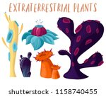 set of alien fantastic plants.... | Shutterstock .eps vector #1158740455