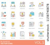 business people vector icons.  | Shutterstock .eps vector #1158740878
