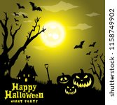 happy halloween background | Shutterstock .eps vector #1158749902