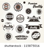 premium quality labels with... | Shutterstock .eps vector #115875016