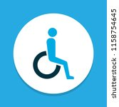 handicapped icon colored symbol.... | Shutterstock . vector #1158754645