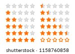 Rating Stars Vector Icon. Five...