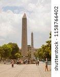 istanbul   june 18  obelisk of... | Shutterstock . vector #1158766402