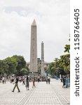 istanbul   june 18  obelisk of... | Shutterstock . vector #1158766405