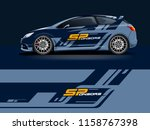 car wrap graphic racing... | Shutterstock .eps vector #1158767398