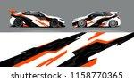 car wrap design abstract strip...   Shutterstock .eps vector #1158770365