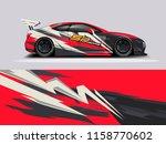 car wrap design abstract strip...   Shutterstock .eps vector #1158770602