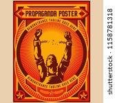 retro freedom propaganda... | Shutterstock .eps vector #1158781318
