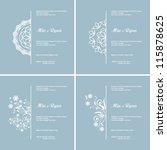 set of four vector half... | Shutterstock .eps vector #115878625