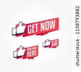 get now  book now here   buy... | Shutterstock .eps vector #1158793882