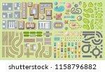 set of landscape elements. city.... | Shutterstock .eps vector #1158796882