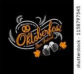 oktoberfest hand drawn vector... | Shutterstock .eps vector #1158797545