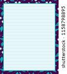 vector printing paper note ... | Shutterstock .eps vector #1158798895