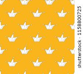 seamless pattern with crowns on ... | Shutterstock .eps vector #1158800725