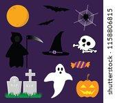 halloween elements. spooky...   Shutterstock .eps vector #1158806815
