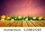 image empty wood table texture... | Shutterstock . vector #1158814285