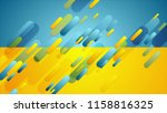 blue and yellow contrast tech...   Shutterstock . vector #1158816325