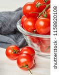 fresh red cherry tomatoes in... | Shutterstock . vector #1158820108
