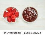 raspberries jam with fresh red...   Shutterstock . vector #1158820225