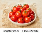 fresh red cherry tomatoes in...   Shutterstock . vector #1158820582