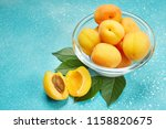 ripe organic apricots with... | Shutterstock . vector #1158820675