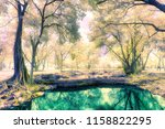 a photo of magic colorful... | Shutterstock . vector #1158822295