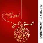 christmas background | Shutterstock .eps vector #115882342