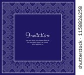 abstract ornamental lace frame... | Shutterstock .eps vector #1158826258