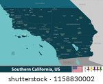 vector set of southern... | Shutterstock .eps vector #1158830002