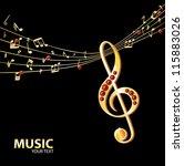 golden music background | Shutterstock .eps vector #115883026
