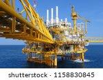 offshore construction platform... | Shutterstock . vector #1158830845
