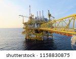 offshore construction platform...   Shutterstock . vector #1158830875