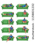 man on couch set | Shutterstock .eps vector #1158831232