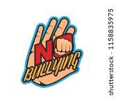 stop bullying  no bullying logo ... | Shutterstock .eps vector #1158835975