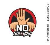 stop bullying  no bullying logo ...   Shutterstock .eps vector #1158835978