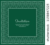 abstract ornamental lace frame... | Shutterstock .eps vector #1158847225