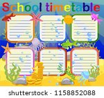 design of the school timetable... | Shutterstock .eps vector #1158852088