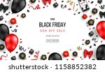 black friday sale poster with... | Shutterstock .eps vector #1158852382