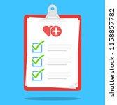 medical check list clipboard... | Shutterstock .eps vector #1158857782