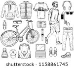 hand drawn sketch with modern... | Shutterstock .eps vector #1158861745