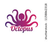 octopus logo for your business  ... | Shutterstock .eps vector #1158862318