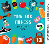fitness  sport  and diet banner | Shutterstock .eps vector #1158862642