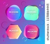 abstract modern banner... | Shutterstock .eps vector #1158864445