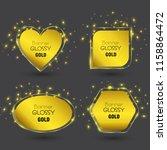 set of vector banner glossy... | Shutterstock .eps vector #1158864472
